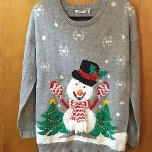 Notations Frosty Snowman Christmas Sweater Med NWT